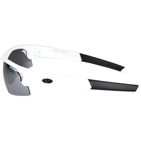 Tifosi Escalate HS Lunettes Homme, pearl white - smoke/ac red/clear